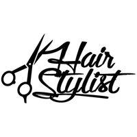 queue de ciseaux achat en gros de-17 * 8.8 cm cheveux styliste décalque beauté style mode délicat ciseaux fenêtre autocollant de voiture décor de voiture vinyle stickers