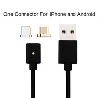 Wholesale magnetic adapters - 2 in magnetic charging cable for Ios Android A micro usb data line charger adapter connector