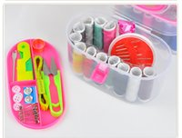 Wholesale Free shipment JI Home portable sewing box Hand stitch sewing kit mending kit sets