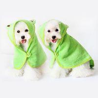 hoodies do animal de estimação do gato venda por atacado-Limpeza Necessária Abastecimento de Pet Dog Toalha de Secagem Macia Bath Pet Toalha Para Cachorro Gato Hoodies Filhote de Cachorro Super Absorvente Roupões de banho