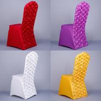 высококачественные сатиновые стулья оптовых-Универсальный банкетный чехол для сиденья розовый атлас спандекс лайкра чехлы на стулья для свадьбы складной отель украшения высокое качество 14dy CB