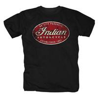 индийская принт хлопок t рубашка оптовых-New Men'S T-Hemd Motorcycles Chopper Rocker Biker er Fun Kult  Remington Logo Print T Shirt Men 100% Coon T-shirt