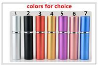 2019 new Free epacket 5ml Mini Portable Refillable Perfume Atomizer Colorful Spray Bottle Empty Perfume Bottles fashion Perfume Bottle