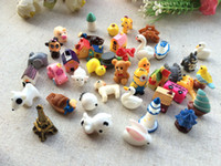 Wholesale wholesale kawaii cabochons - Kawaii Cartoon Animal house Resin Craft mix resina cabochons Home Decor Micro Landscape fairy garden miniatures accessories