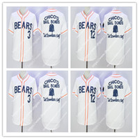 Wholesale Black Bears Baseball - Men's Bad News Bears #12 Tanner Boyle #3 Kelly Leak Baseball Jersey Stitched Numbers S-XXXL Free Shipping