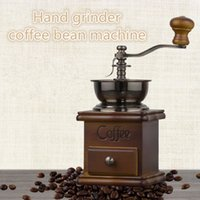 Wholesale Hand Grinders Coffee - The Hand grinder coffee bean machine Grind coffee bean machine Coffee machine Retro Grinder Lapping T4H0382