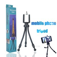 Wholesale vedio cameras resale online - tripod of mobile phone for taking photo camera vedio chating smartphone holder and soft tube