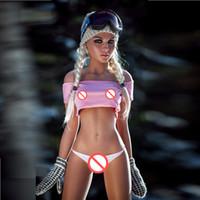 asiatische weibliche geschlechtspuppen großhandel-Sexpuppen echte Größe Sexpuppe realistische 158cm kleine Brust mit Skelett Sie können Hautfarben und Köpfe wählen Sie mögen