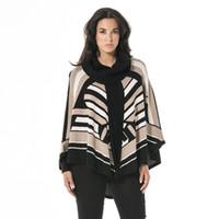 женщина вязаная одежда дизайн оптовых-Вязать свитер с высокого класса Женская одежда геометрический дизайн новые женщины мода коллаж сращивание небольшой жилет куча воротник