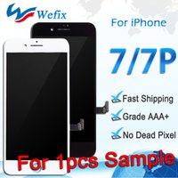 Wholesale Iphone Orders - 1pcs LCD Display For iPhone 7 7 Plus High Quality Touch Digitizer Frame Assembly Repair Black & White For Sample Order free shipping ePacket
