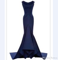 vestidos sexy alfombra roja al por mayor-2018 Nueva Sexy Golden Globe Awards Vestido de noche Square Sirena escote Katherine Heigl Red Carpet Dress Celebrity Dresses vestidos de fiesta