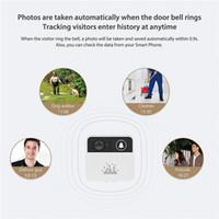 lcd de seguridad para el hogar con cable al por mayor-32GB 720P HD Smart Wireless Video Timbre WiFi Cámara de seguridad para el hogar Timbre de la puerta Timbre en tiempo real Video bidireccional de conversación para iPhone Teléfono Android