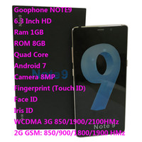 android 4g dört çekirdekli akıllı telefon toptan satış-6.3 Inç Goophone 9 Artı WCDMA 3G Dört Çekirdekli Ram 1 GB ROM 8 GB Android 8.0 Kamera 8.0MP Dokunmatik KIMLIĞI Yüz Iris KIMLIĞI smartphone göster Sahte 6 + 128 GB 4G