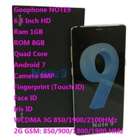 android 4g teléfono inteligente de cuatro núcleos al por mayor-6.3 pulgadas Goophone 9 Plus WCDMA 3G Quad Core Ram 1GB ROM 8GB Android 8.0 Cámara 8.0MP Touch ID Face Iris ID smartphone muestra Fake 6 + 128GB 4G
