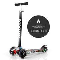 ingrosso passeggini per ragazzi-SR Nuova lega di alluminio Calcio Scooter Ragazzi Ragazze Altezza regolabile per bambini Scooter Robusto triciclo Passeggino leggero scooter