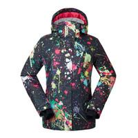 ropa de nieve al por mayor-Alta calidad Gsou Snow mujeres Chaquetas de nieve 10 K impermeable a prueba de viento deportes al aire libre ropa de snowboard femenino traje de esquí abrigos