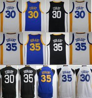 Wholesale Youth Basketball Jerseys - 2018 New Kids Jerseys 30 Stephen Curry 35 Kevin Durant youth boy Player version Swingman College mixed Order