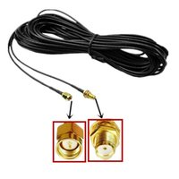Wholesale rf cables resale online - 3M WiFi Antenna Extension Cable SMA Male to SMA Female RF Connector Adapter RG174