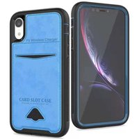 Wholesale iphone6 plus case leather for sale - Card Slot Wallet Case in Frame Leather Protective Cover for iphone6 Plus X XS Xr XS MAX SamsungS9 Plus Note9