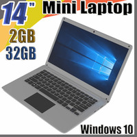 Wholesale 1366x768 tablet resale online - 2018 inch mini laptop computer Windows GB RAM G ROM emmc Ultrabook tablet laptop with lowest pric