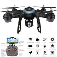 transmisor de helicóptero de control remoto al por mayor-LH-X38G DRON Dual GPS FPV Drone RC Quadcopter con 1080P HD Cámara Wifi Modo sin cabeza Control remoto Juguetes Drone con cámara HD