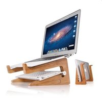 Wholesale laptop wood online - Notebook table and stand Wood Slanted and Vertical Mount Adjustable Macbook Stand Holder Cradle for Laptops Laptop accessory