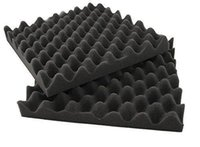 "Wholesale Soundproofing Foam Wholesale - 25*25*5 CM Black 12 Pack Acoustic Studio Soundproofing Egg Crate Foam Wall Tiles 2"" X 10"" X 10"""