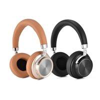 ingrosso microfoni a testa-VJJB Cuffie on-ear pieghevoli Bluetooth Cuffie senza fili con microfono