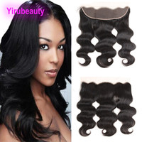 Wholesale free brazilian weave for sale - Group buy Brazilian Human Hair X4 Lace Frontal Body Wave Weaves Free Part Ear To Ear Virgin Hair inch