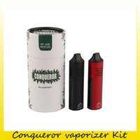 vape mod kit hierba seca al por mayor-Auténtico Hugo VApor Conqueror Kit de vaporizador de hierba seca 2200 mAh Batería Cigarrillos de vapor Vape Vape Mod Mod 100% Original