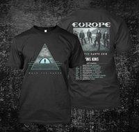 dessins de cou de bande achat en gros de-nouvelle bande de l'Europe T-shirt Walk The Earth UK 2018 Design 2018 manches courtes O-cou 100% coton Print Mens Summer