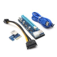Wholesale Wholesale Graphics Card - Ver008C PCI-E PCI Express 1x To 16x riser Card usb3.0 Cable SATA Molex power cable PCIE Riser for bitcoin mining BTC Graphics card DHL