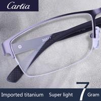 meio óculos de prescrição quadro venda por atacado-Carfia designer de marca armações ópticas 30397/30371 óculos sem aro oculos de grau feminino prescrição óculos de titânio para homens ler