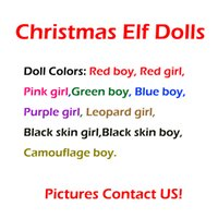 Wholesale elf clothes for sale - 10 Style Christmas Elf Doll Plush toys Elves Xmas dolls and Books Clothes on the shelf For Kids Christmas Gift Decorations