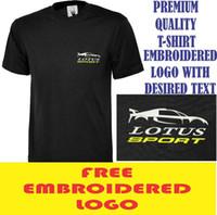 ingrosso camicie di loto-T-shirt da lavoro sportiva con logo Lotus Sport ricamato T-shirt sportiva da sport Lotus