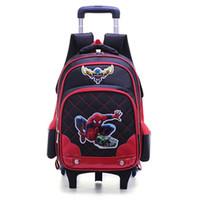Kids Trolley School bags Boys Removable Backpack 2-6 Wheels For Children  Rolling Travel Backpacks Wheels Girls Cartoon Schoolbag Handbag 4887a03cd9f94