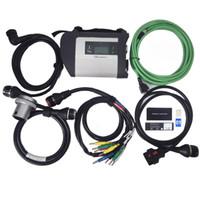 diagnostischer multiplexer großhandel-MB Star C4 mit 5 Kabel SDconnect Diagnose Multiplexer Unterstützung für Benz Autos und LKWs auf Lager