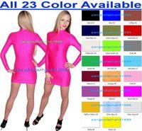 Wholesale Pencil Skirt Suits - New 23 Color Lycra Spandex Dresses Sexy Women Nightclub Dresses Sexy Women Dress Women Skirt Halloween Party Fancy Dress Cosplay Suit P240