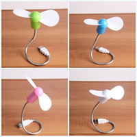 Wholesale electronics fan online - Electronic Gadget Fan Cooler For Laptop Desktop Computer Accessories Mini Usb Fans Mute Soft Leaf With Mix Color Eco Friendly xd jj