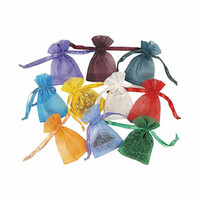Wholesale Paper Bags Romantic Gift - 100PCS 19 colors 6 sizes Rustic Romantic Wedding Favors and Gift Bags Organza Tiny drawstring Candy Bags candle Jewelry Package