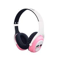 casque bluetooth universel rose achat en gros de-L8 casque rose stéréo sans fil Bluetooth casque cercle dynamique éponge bouchons d'oreilles carte pliant téléphone mobile universel