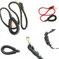 Wholesale reflective led online - Adjustable Loop Dog leadhes Slip Lead Rope Pet Reflective Stripe with Sponge slip leash rope m length cm diameter FFA286 COLORS