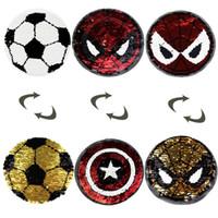ingrosso ricamate di panno-Due paillettes a sirena ricamate Ricamo Pasta di stoffa Spider Man Calcio Souvenirs accessori di abbigliamento moda Patch decals 3 8sd WW