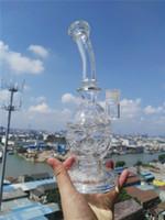 recyler-rohr großhandel-2 Funktion Glaswasserpfeifen Fab Egg Mother-Ship Solide Glaspfeifen Vortex Klein Recyler Oil Rigs Wasserpfeifen 14 mm Innengelenk mit Schüssel