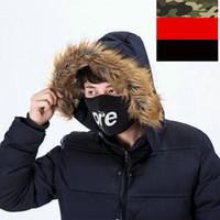 máscaras de neopreno al por mayor-3 Colores Rojo Negro Camo 14 AW Máscaras de neopreno Media cara Campana Snowboard Bicicleta Calentador de invierno Máscaras a prueba de viento 1 unids envío gratis