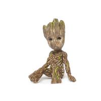 guardiões filme galáxia venda por atacado-Chegada nova Bebê Groot Grunt Homem Árvore Figuras de Brinquedo Guardiões da Galáxia Dança Groot Figuras Do Filme Brinquedos Pingentes Boneca
