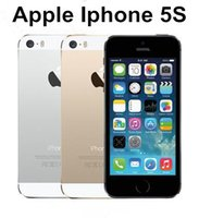Wholesale 5s Inch - Hot Sale Apple iphone 5S Mobile phone LTE Dual core 4.0 inches 1G RAM 64GB ROM 8MP IOS low price refurbished phone