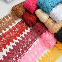 Wholesale lace trim for sewing - 15yards Venise Lace trim wedding DIY crafted sewing 8cm 11color for choose