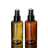 su püskürtme şişesi pompası toptan satış-100 ml PET Atomizer Doldurulabilir Pompa Sprey Şişeleri Makyaj Toner Yumuşatıcı su Parfüm Boş Şişe