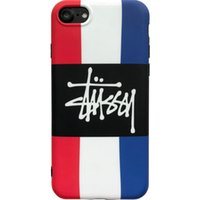Wholesale apple france resale online - France Flag Style Phone Case with Fashion Brand Letters for IphoneX IphoneXs Plus Plus sPlus s Back Cover Phone Case